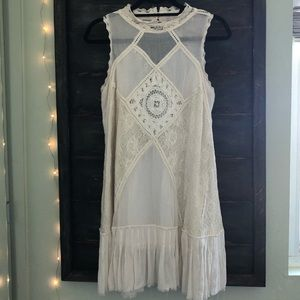 Free People Cotton & Lace Dress